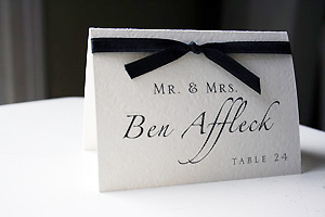 Name cards escort cards for wedding reception